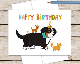 Pet Parade Happy Birthday Card