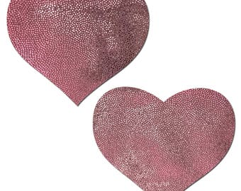 Pasties - Bubblegum Pink Heart Nipple Pasties by Pastease® o/s