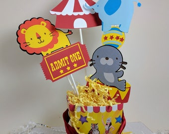 Circus Centerpiece, Carnival Centerpiece, Circus Decor, Circus Birthday Party, Big Top
