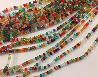 200 donuts beads faceted rondelle glass 3mm for jewelry designs