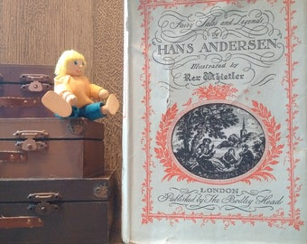 VINTAGE HANS (C) ANDERSEN Fairy Tales & Legends Book Illustrated by Whistler // Charming Hans Christian Andersen Book with Original Cover
