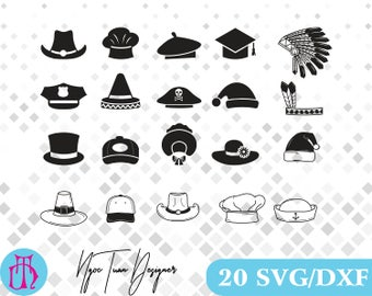 Hats svg,dxf for Design,Silhouette,Cricut and any more