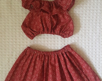 Cute Fourth of July dress (two piece) with matching headwrap