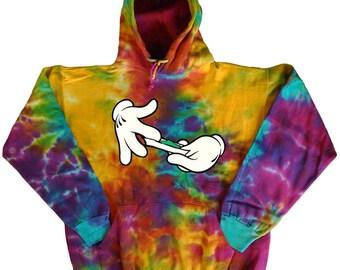 Tie Dye sweatshirt weed pot 420 hoodie