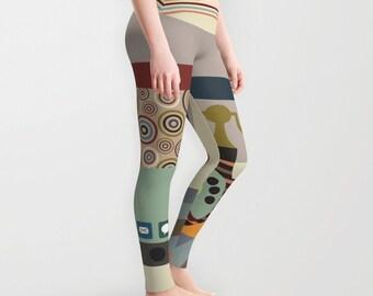 Printed Leggings, Womens Leggings, Yoga Leggings, Workout Leggings, Cute Leggings, Active Wear, Printed Tights