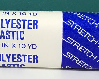 Strechrite White Polyester Elastic 1/4 Inch wide - 10 yard package - No. 81