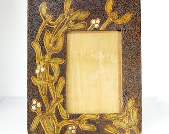 Antique Edwardian Wood Photo Frame Easel Back
