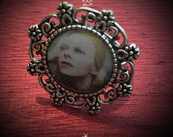 David Bowie Adjustable Hunky Dory Statement Ring
