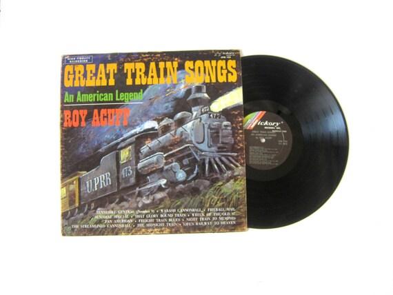 Great Train Songs Roy Acuff Vinyl Record Album 12 Inch LP Vintage Music Hickory Record Album