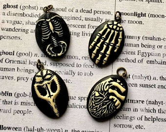 Gothic, Halloween Resin Pendants- Choose Your Favorite!