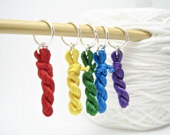 Stitch Marker Set, Knitting Stitch Marker, Mini Yarn, Knitting Markers, Snag Free Knitting Markers, Knitting Supplies, Knitting Gifts