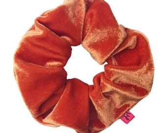 Juicy Orange Velour Hair Scrunchie
