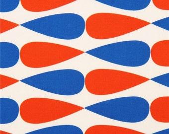 Robert Kaufman Geo Pop Tear Drop Teardrop Canvas Fabric Red Blue Cream Navy FQ Fat Quarter Cotton