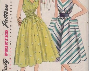 Bust 30-FACTORY FOLDED 1950's Misses' Dress Simplicity 4309 Sz 12