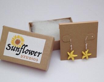 Stone Starfish Earrings, Costal Starfish Earrings