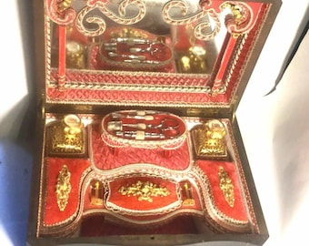 SOLD......French Boulle Scent Sewing Necessaire Casket  SOLD......
