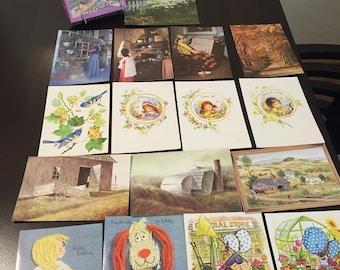 16 deluxe variété assortiment de cartes de voeux avec enveloppes.