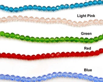 50 Faceted Glass Beads - 31-6