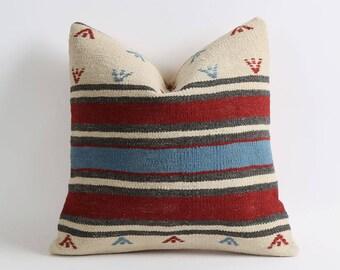 gypsy pillow, striped bohemian kilim pillows, boho pillow, throw pillow, pillow, decorative pillow, cushion cover, boho, vintage