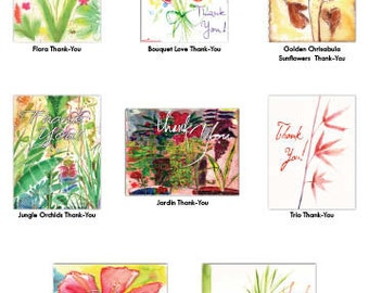 Floral Thank You Cards Set