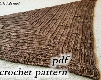 Crochet Pattern pdf - Parquet Scarf