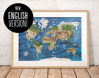 World Map English Version