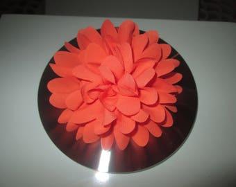 Pince à cheveux Fleur Orange, Barrette, Broche cérémonie, mariage, enfants...