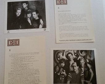 X Promo 6 Page Press Kit And ELEKTRA RECORDS Folder (2) 8x10 Photos 1983 John Doe Exene Original Collectable Punk New Wave