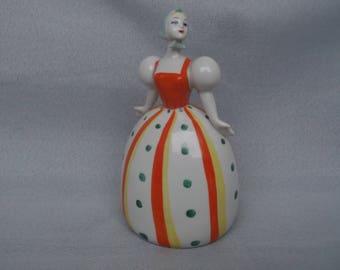 Matryoshka / Soviet Porcelain / Russian Dancer Girl / Russian Porcelain / Gorodnitsa Manufacture /Soviet Vintage 1960's