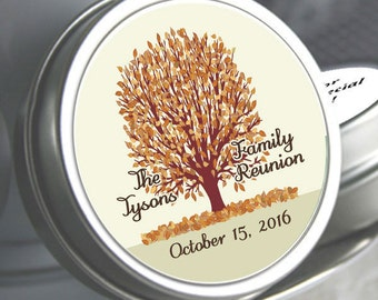 "12 Family Reunion Mint Tins - Autumn Tree - Select the quantity you need below in the ""Pricing & Quantity"" option tab"