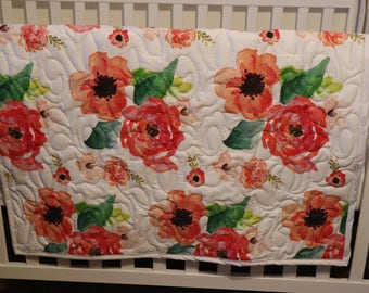 Floral Dreams Minky Blanket or Quilt