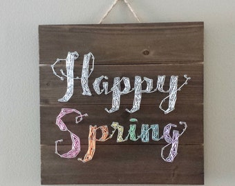 Happy Spring Customizable String Art