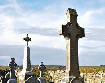 Celtic Crosses, County Clare, Ireland - Photograph Print