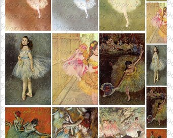 Ballet Dancers Digital Download Collage Sheet 2.25 x 3.5 Inch