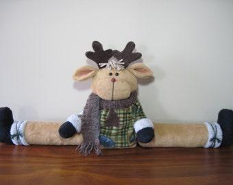 """Reindeer pattern:  """"Reindeer Draft Stopper"""" - #663"""