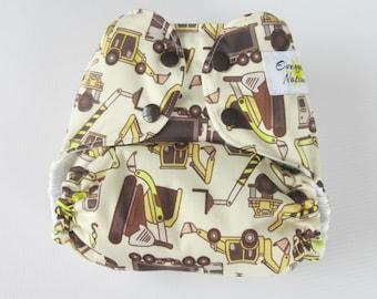 Cloth Diaper - Construction Trucks - One Size Pocket Cloth Diaper