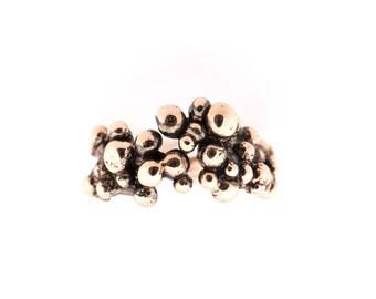 Antique bronze stacking ring