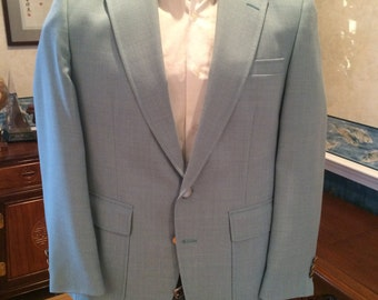 Sylish Blue Blazer - 1970s  - Mens  - Medium 41R - Casual - Preppy - Classic Powder Blue Color - Must Have Fashion Jacket - Oakton ltd