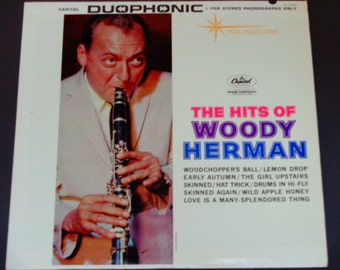 "The Hits of Woody Herman - ""Love Is a Many Splendored Thing"" - Jazz Clarinet - Capitol Records 1961  - Vintage Vinyl LP Record Album"