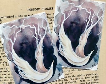 Lightning Bird Print from the Book Myths of Legend. Mulptiple Sizes Available.