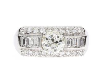 1940's Platinum Diamond Wedding Ring