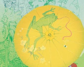 Frog Umbrella Print