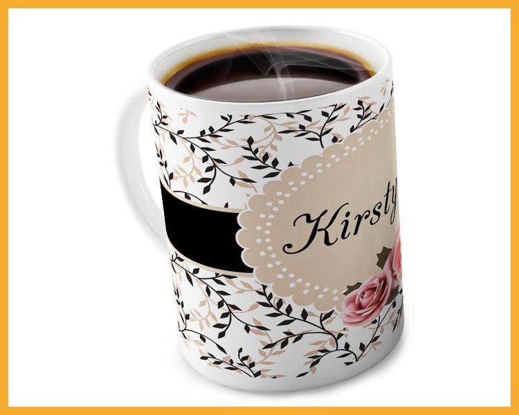 monogrammed coffee or tea mug personalized mug