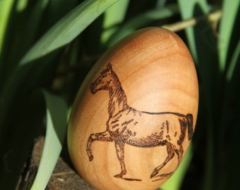 Horse wooden egg- Made to order
