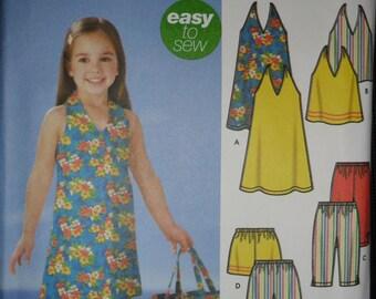 Simplicity Girls Dress or Top, Capri Pants, Shorts, Skort and Bag Pattern #5531