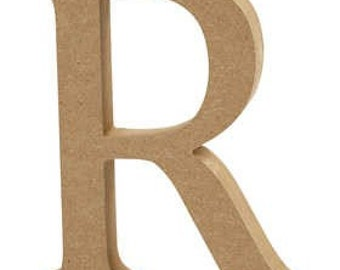 Wooden Letters and Numbers - Free-standing - 13cm Large Letters - Ready for Painting or Decopatch