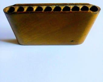 Vintage Wood Cigarette Case Made In Japan