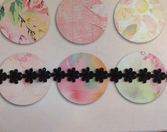 Daisy choker necklace black