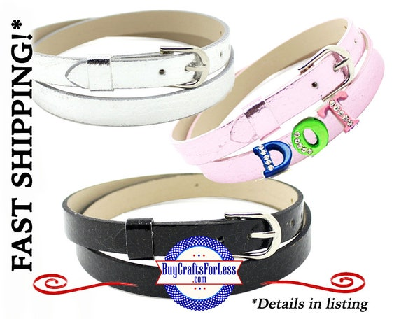 DoUBLE BRACELET or CHoKER for 8mm Slider Letters and Charms, choose from 3 Colors +FREE Shipping & Discounts*