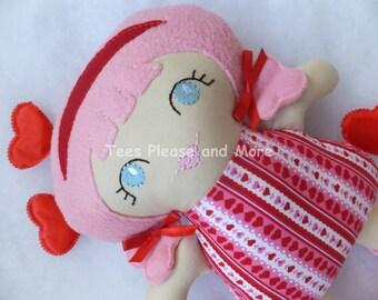 Valentine Doll Stuffie Plushie